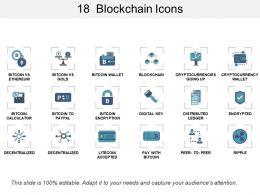18 Blockchain Icons