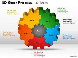 1 3D Gear Process 6 Pieces Style 2