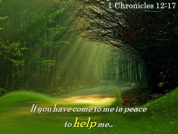 1 Chronicles 12 17 If You Have Come To Me Powerpoint Church Sermon