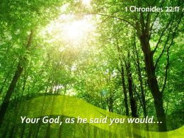 1 Chronicles 22 11 Your God As He Said Powerpoint Church Sermon