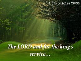 1 Chronicles 26 30 The LORD And For Powerpoint Church Sermon