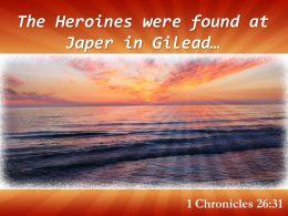 1 Chronicles 26 31 The Heroines Were Found Powerpoint Church Sermon