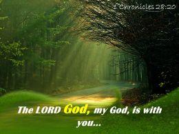 1 Chronicles 28 20 The LORD God My God Powerpoint Church Sermon