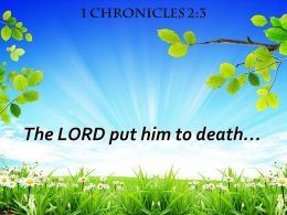 1 Chronicles 2 3 The LORD Put Him To Death Powerpoint Church Sermon