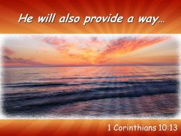 1 Corinthians 10 13 He Will Also Provide A Way Powerpoint Church Sermon