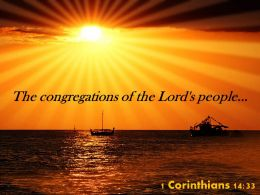 1 Corinthians 14 33 The Congregations Of The Lord Powerpoint Church Sermon