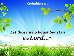 1 Corinthians 1 31 Let Those Who Boast Powerpoint Church Sermon
