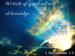 1 Corinthians 1 5 All kinds of speech PowerPoint Church Sermon