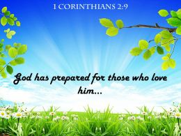 1 Corinthians 2 9 God Has Prepared For Those Powerpoint Church Sermon