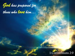 1 Corinthians 2 9 God Has Prepared Powerpoint Church Sermon