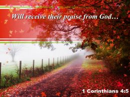 1 Corinthians 4 5 Will Receive Their Praise Powerpoint Church Sermon