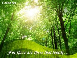 1 John 5 7 For there are three that testify PowerPoint Church Sermon