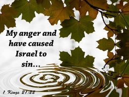 1 Kings 21 22 My Anger And Have Caused Powerpoint Church Sermon