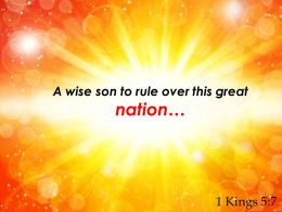 1 Kings 5 7 A Wise Son To Rule Over Powerpoint Church Sermon