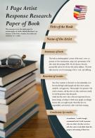 1 Page Artist Response Research Paper Of Book Presentation Report Infographic PPT PDF Document