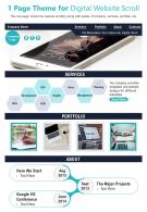 1 Page Theme For Digital Website Scroll Presentation Report PPT PDF Document
