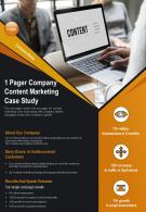 1 Pager Company Content Marketing Case Study Presentation Report Infographic PPT PDF Document