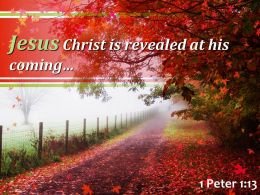 1 Peter 1 13 Jesus Christ is revealed PowerPoint Church Sermon