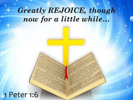 1 Peter 1 6 Greatly rejoice PowerPoint Church Sermon