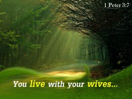 1 Peter 3 7 You Live With Your Wives Powerpoint Church Sermon