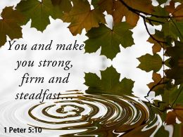 1 Peter 5 10 You And Make You Strong Powerpoint Church Sermon