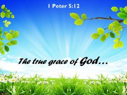 1 Peter 5 12 The True Grace Of God Powerpoint Church Sermon