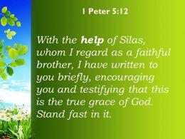 1 Peter 5 12 The True Grace Of God Powerpoint Church Sermon