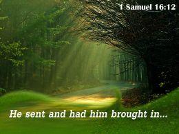 1 Samuel 16 12 He Sent And Had Him Powerpoint Church Sermon