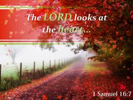 1 Samuel 16 7 The LORD Looks At The Heart Powerpoint Church Sermon