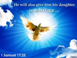 1 Samuel 17 25 His Daughter In Marriage Powerpoint Church Sermon