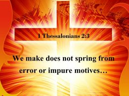 1 Thessalonians 2 3 We Trying To Trick You Powerpoint Church Sermon