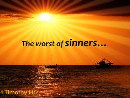 1 Timothy 1 16 The Worst Of Sinners Powerpoint Church Sermon