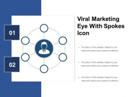 1 Viral Marketing Eye With Spokes Icon