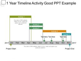 1 Year Timeline Activity Good Ppt Example