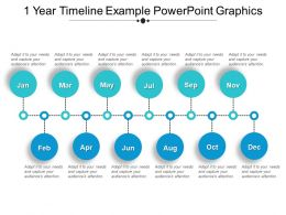 1 Year Timeline Example Powerpoint Graphics