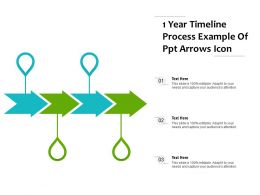 1 Year Timeline Process Example Of Ppt Arrows Icon