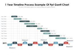 1 Year Timeline Process Example Of Ppt Gantt Chart