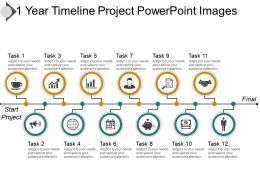 1 Year Timeline Project PowerPoint Images