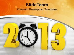 2013 Alarm Clock New Year Celebration Festival PowerPoint Templates PPT Backgrounds For Slides 0113