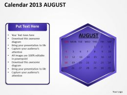 2013_august_calendar_powerpoint_slides_ppt_templates_Slide01