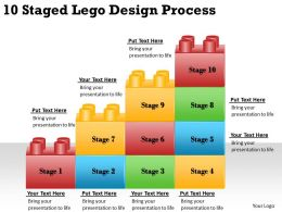2013 Business Ppt Diagram 10 Staged Lego Design Process Powerpoint Template