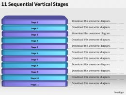 2013_business_ppt_diagram_11_sequential_vertical_stages_powerpoint_template_Slide01