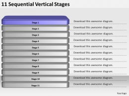 2013_business_ppt_diagram_11_sequential_vertical_stages_powerpoint_template_Slide02