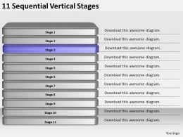 2013_business_ppt_diagram_11_sequential_vertical_stages_powerpoint_template_Slide04