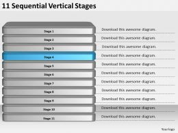 2013_business_ppt_diagram_11_sequential_vertical_stages_powerpoint_template_Slide05