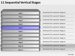 2013_business_ppt_diagram_11_sequential_vertical_stages_powerpoint_template_Slide06