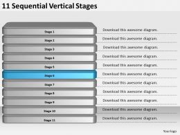 2013_business_ppt_diagram_11_sequential_vertical_stages_powerpoint_template_Slide07