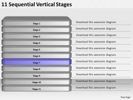 2013_business_ppt_diagram_11_sequential_vertical_stages_powerpoint_template_Slide08