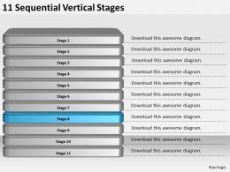 2013_business_ppt_diagram_11_sequential_vertical_stages_powerpoint_template_Slide09