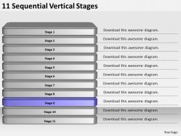 2013_business_ppt_diagram_11_sequential_vertical_stages_powerpoint_template_Slide10